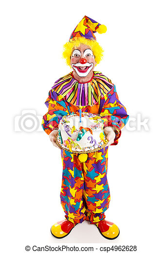 Clown With Cake - Full Body - csp4962628