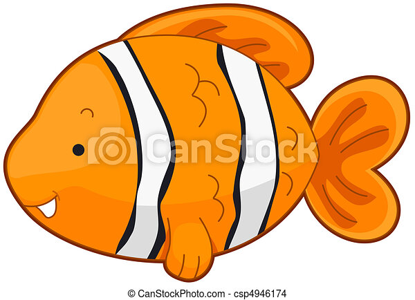 illustration of a cute clownfish swimming around drawing search rh canstockphoto com clown fish pictures clipart free clipart clownfish