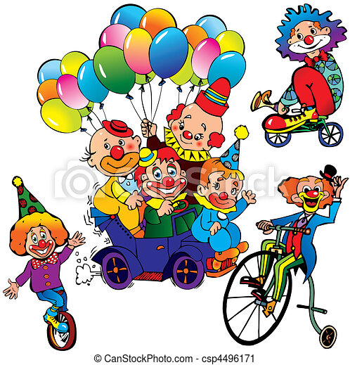 clowns. - csp4496171