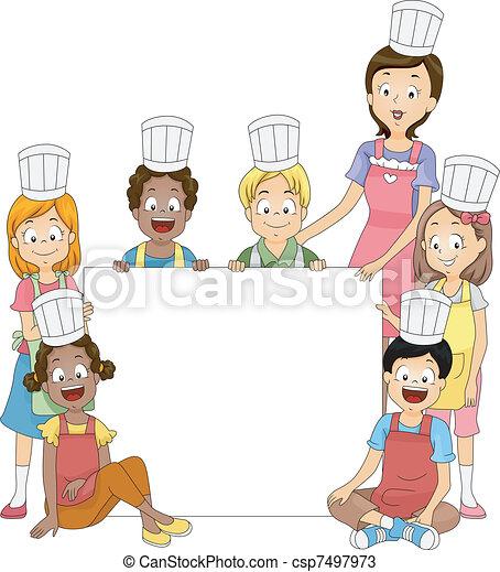 club, cuisine, bannière - csp7497973