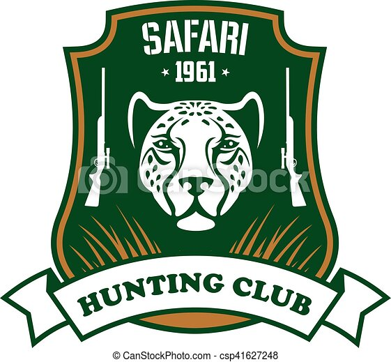 club, deporte, safari, caza, señal - csp41627248