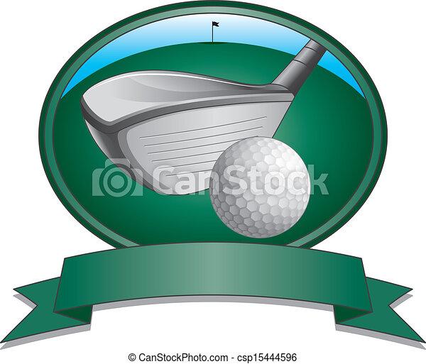 club, golf bal, ontwerp - csp15444596