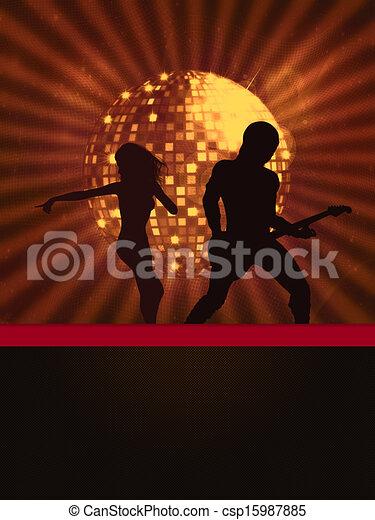 Ilustración del club nocturno - csp15987885