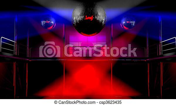 club, lumières, discothèque, coloré, nuit - csp3623435