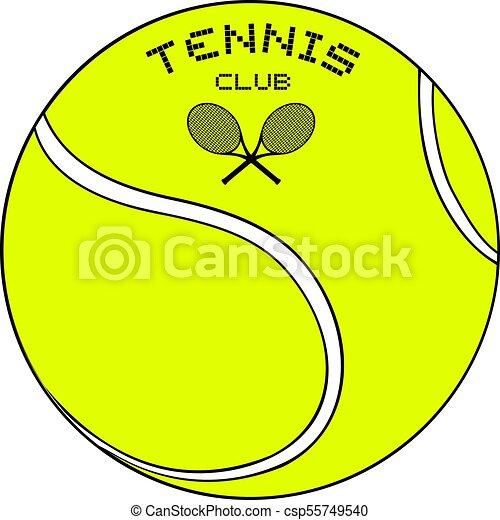 Bola con mensaje del club de tenis - csp55749540