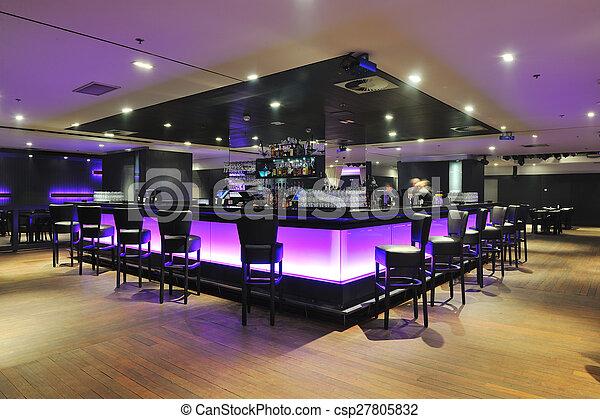 club, moderno, sbarra, dentro - csp27805832