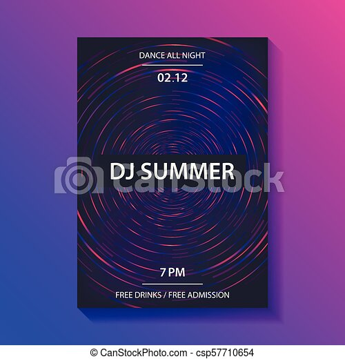 club music party poster dance party flyer brochure cover dj