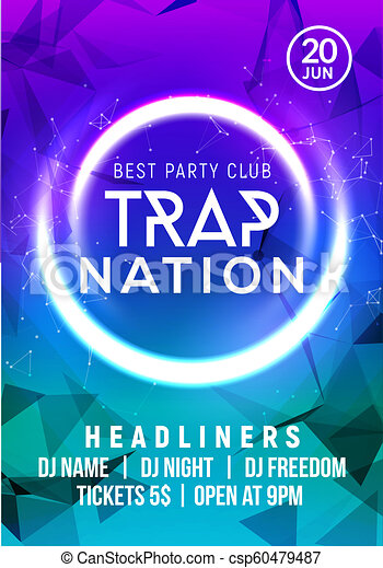club music poster banner design trap nation flyer creative event