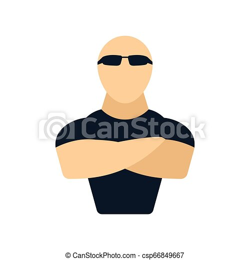 club, nuit, sécurité, icône - csp66849667