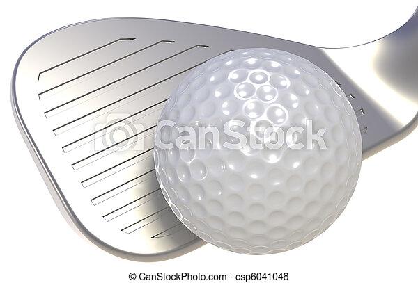 Golf club y pelota - csp6041048