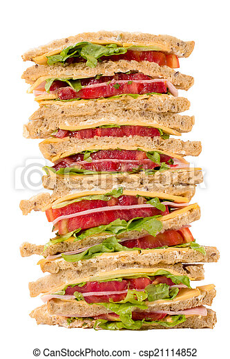 Club sandwiches isolated - csp21114852