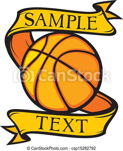 clube, basquetebol, emblema - csp15282792
