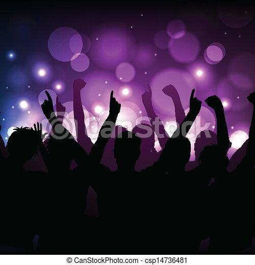 clube, concerto, fundo, ou - csp14736481