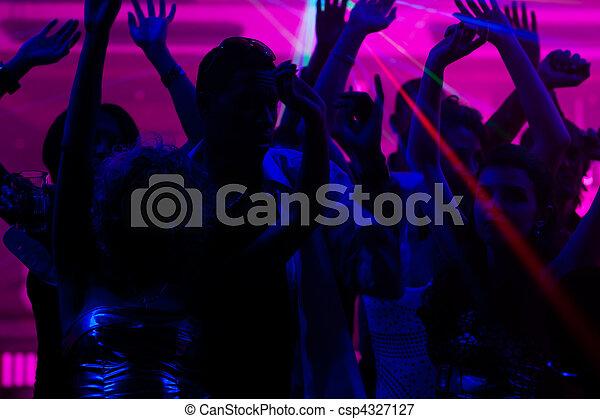 clube, pessoas, laser, dançar - csp4327127