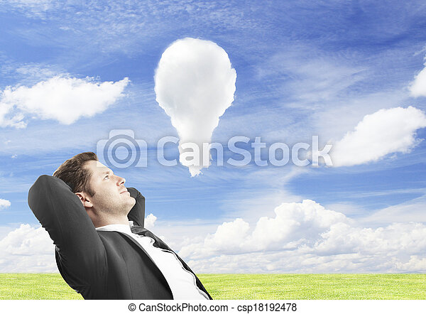 clud lamp in sky - csp18192478