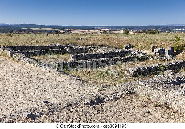 clunia, burgos, peñalba, de, castro, leon, y, カスティリャ, 台なし, スペイン - csp30941951