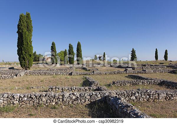 clunia, burgos, peñalba, de, castro, leon, y, カスティリャ, 台なし, スペイン - csp30982319