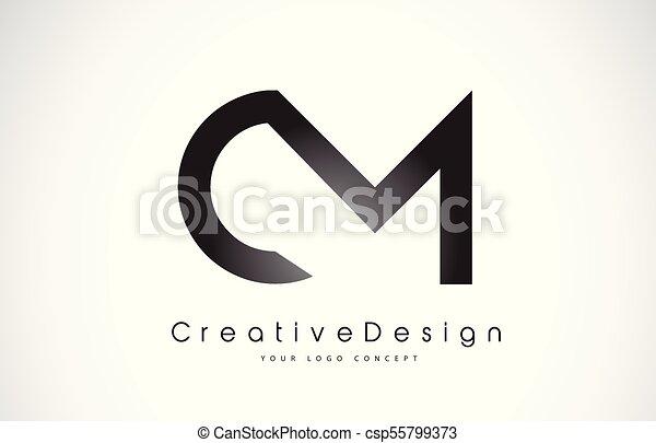 cm c m letter logo design creative icon modern letters vector logo