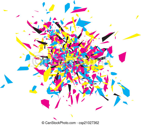 CMYK Abstract Explosion - csp21027362
