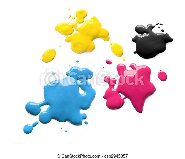 cmyk, impresión, tintas - csp2945057