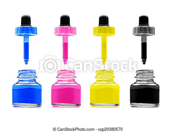 CMYK - Magenta, cyan, yellow and black  - csp20380570