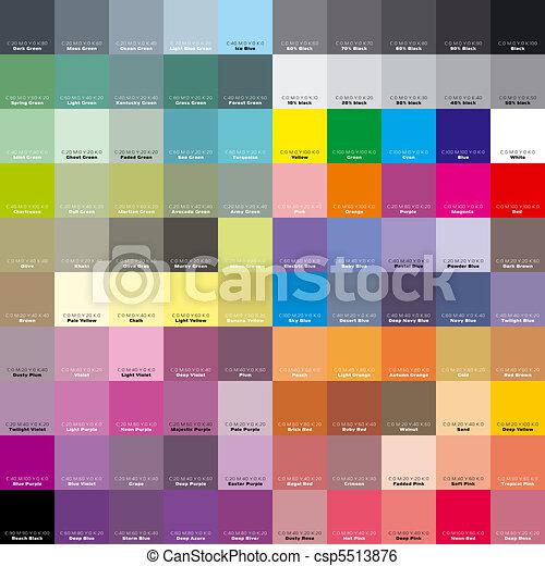 CMYK palette for artist and designer. EPS 8 - csp5513876