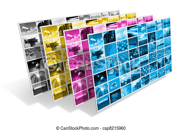 CMYK printing concept - csp8215960