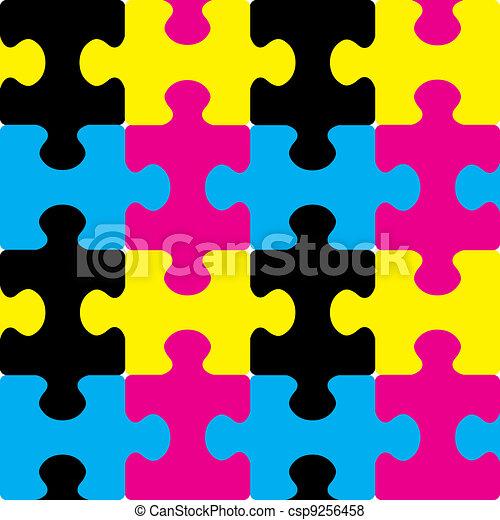 cmyk, puzzle, seamless - csp9256458