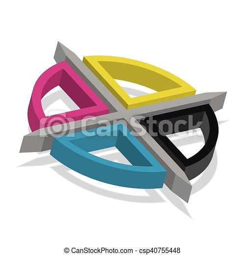Cmyk Registration Mark Vector Typography Sign