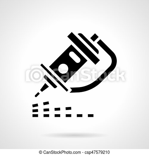 Cnc Laser Engraver Glyph Style Vector Icon Abstract Monochrome