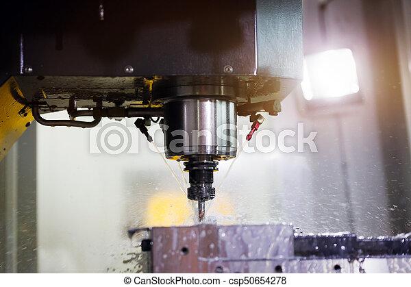 Cnc metal milling lathe machine in metal industry - csp50654278