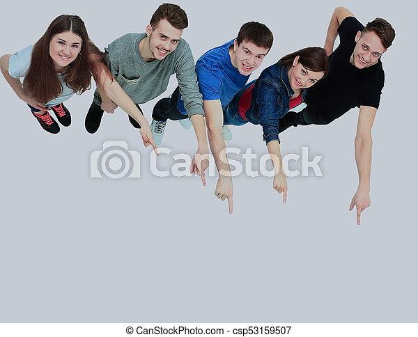 coś, grupa, młody, spoinowanie, ludzie - csp53159507