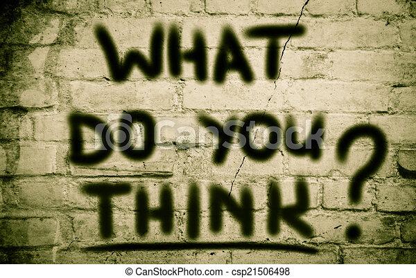 co, pojęcie, ty, myśleć - csp21506498
