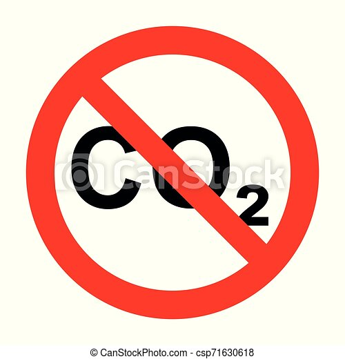 CO2 and prohibition sign - csp71630618