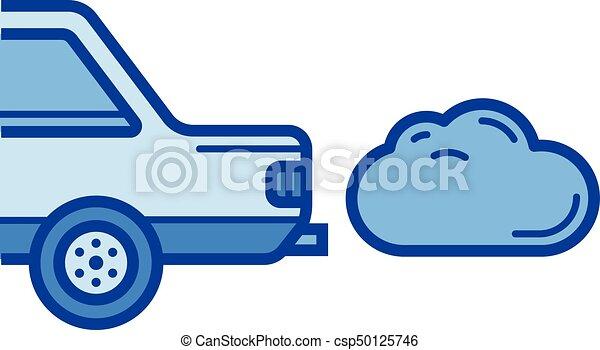 CO2 emission line icon. - csp50125746