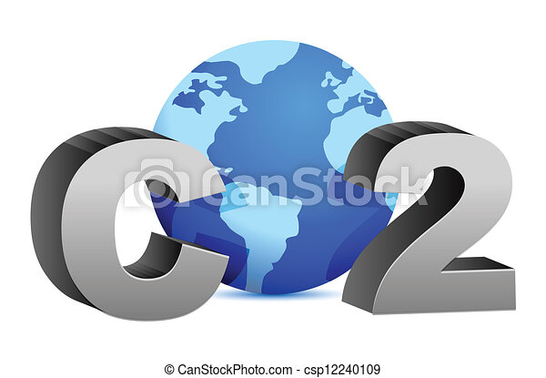 CO2 pollution in 3D's style - csp12240109