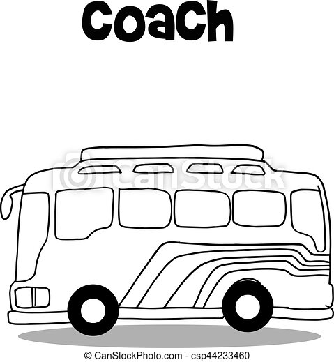 coach bus of vector art hand draw clip art vector search drawings rh canstockphoto com free vw bus vector clip art free vw bus vector clip art