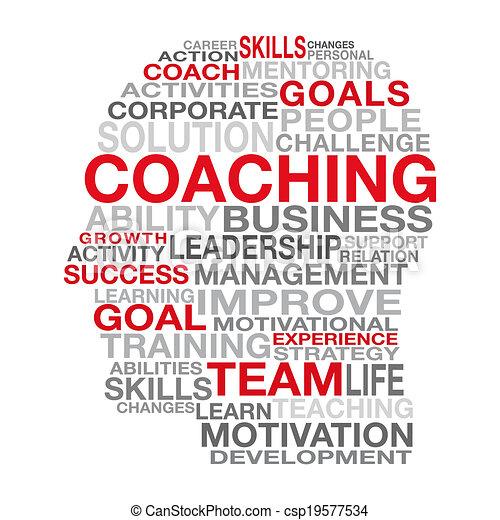 Coaching Business Management Concept - csp19577534