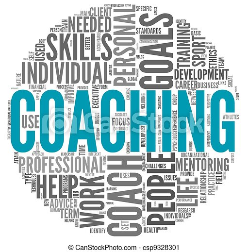 Coaching concept in tag cloud - csp9328301
