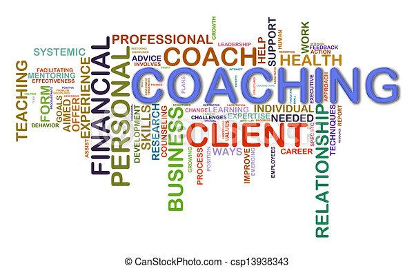 Coaching word tags - csp13938343