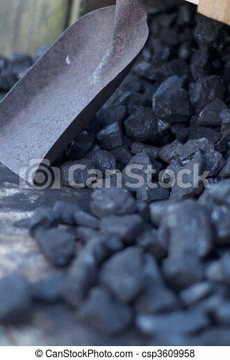 Coal And Shovel - csp3609958