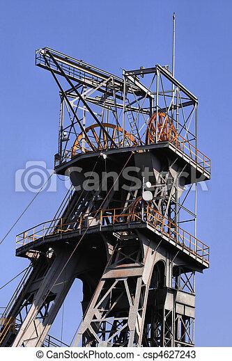 Coal mine shaft - csp4627243
