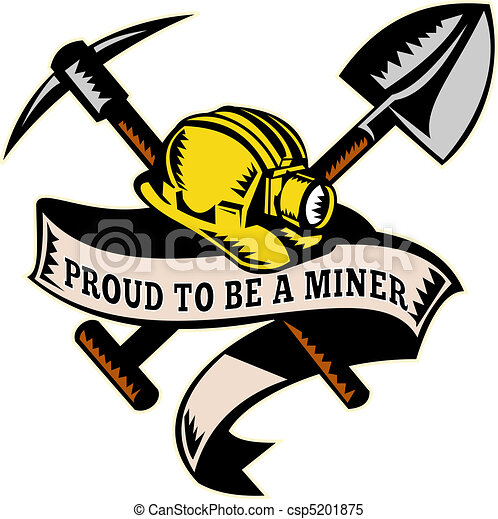 coal miner hardhat shovel pickax illustration of a coal miner rh canstockphoto com coal miner clip art free coal miner clipart black and white
