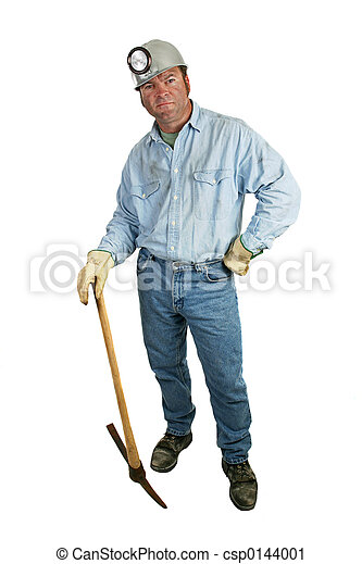 Coal Miner - Leaning on Pickax - csp0144001