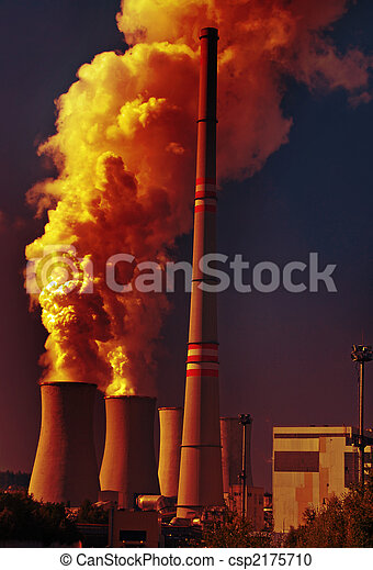 Coal power plant and pollution - csp2175710