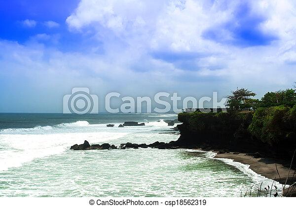 Coast near Tanah Lot. - csp18562319