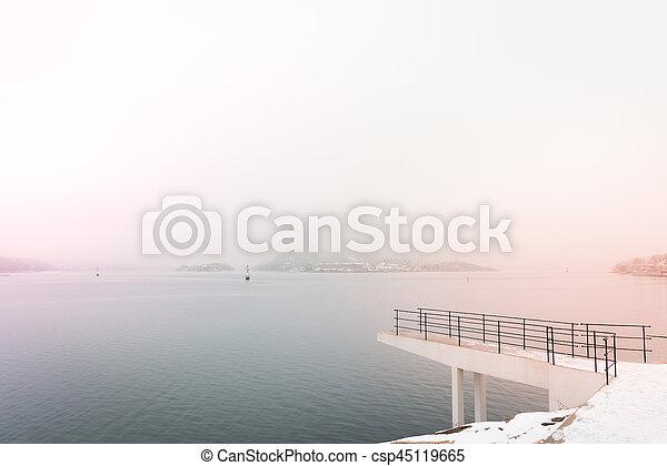 Coast of Drøbak in Norway - csp45119665