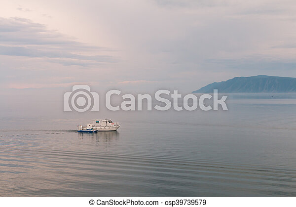coast of Lake Baikal. - csp39739579