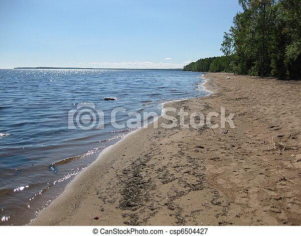 Coast of Lake Onega - csp6504427