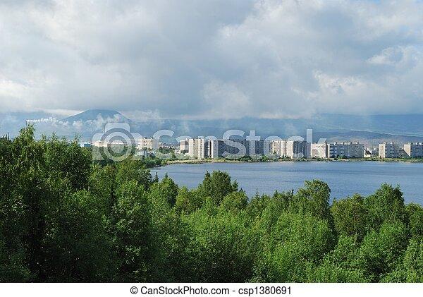 Coast of lake - csp1380691